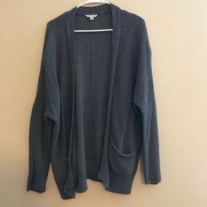 Grey oversized cardigan